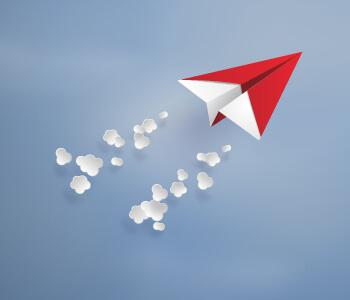 Solo paper airplane